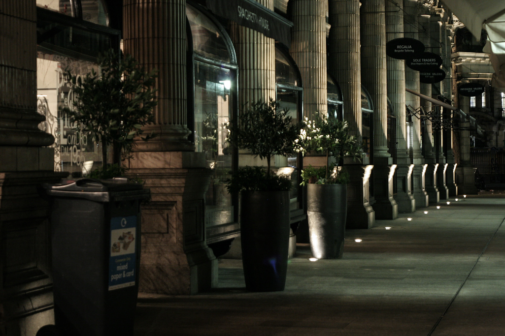 Holborn Circus, London, by night