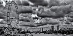 A view from Golden Jubilee Bridge, London, 05.10.2013