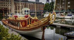 Gloriana boat, St Katharine Docks, London, 05.10.2013