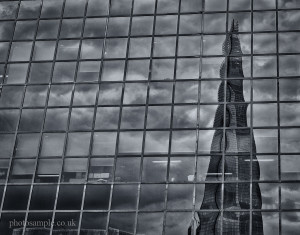 Reflection of The Shard, river Thames, London, UK, 05.10.2013
