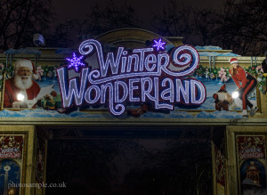The Entrance of Winter Wonderland London 2013