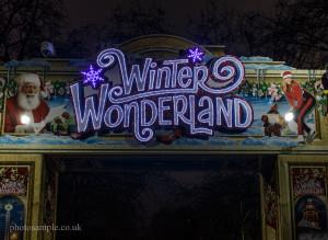 The Entrance of Winter Wonderland London 2013