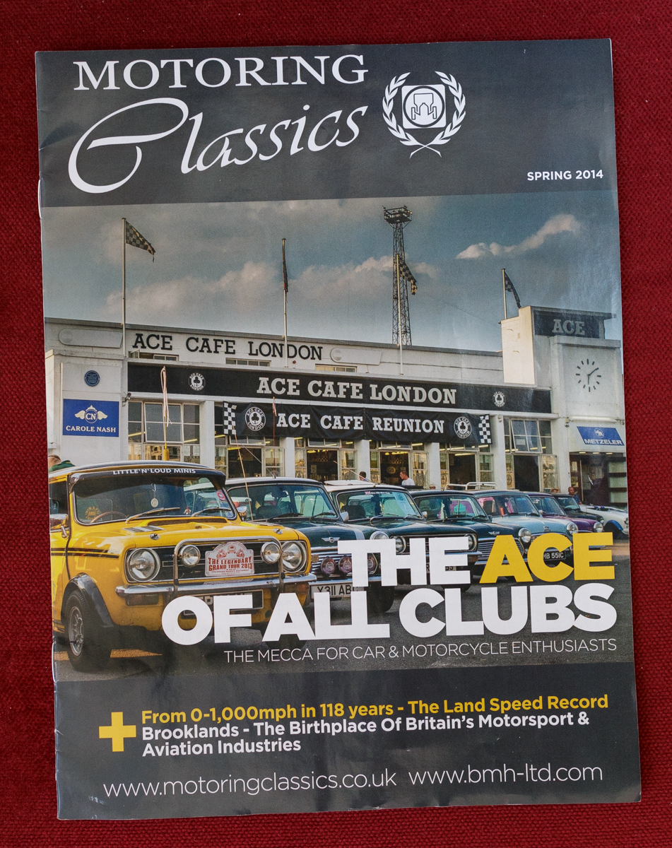 Publication in Motoring classics magazine Spring 2014