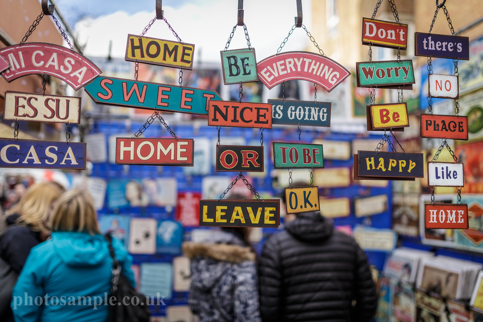 Portobello Market walk 22.02.2014 London UK