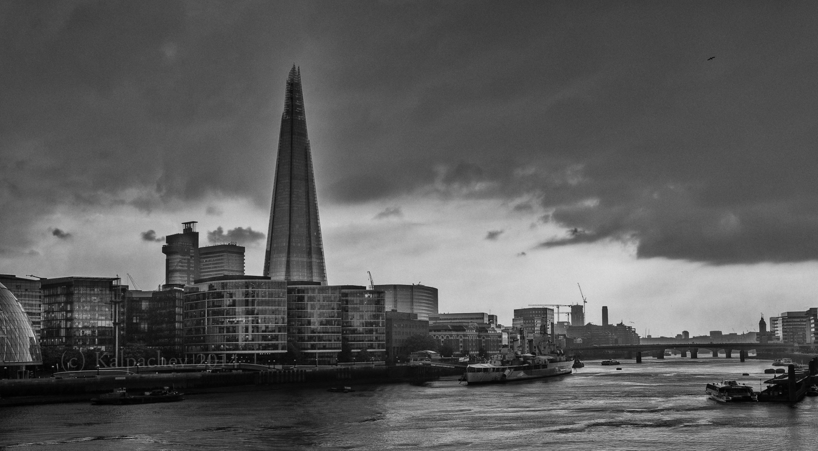 The Shard and Thames river