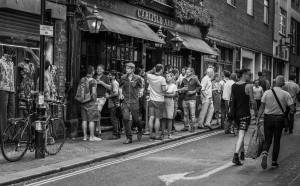 Streets in Soho, London, July 2014