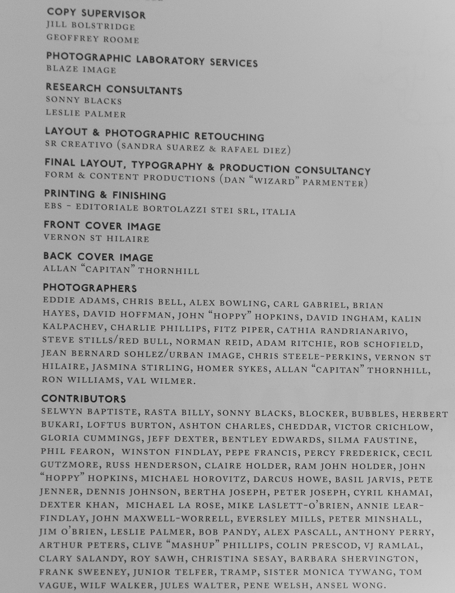 Notting Hill Carnival Book credits