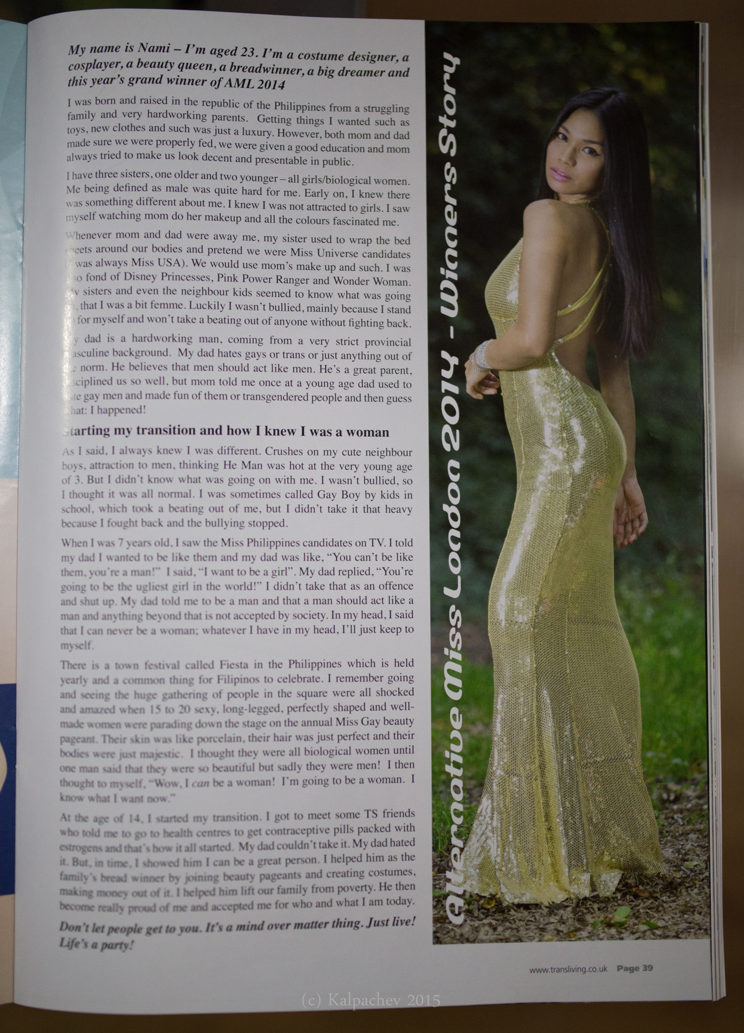 Published in Transliving magazine
