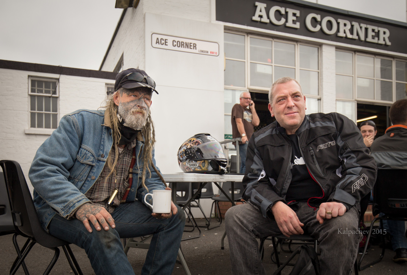 Bikers at Ace Cafe London 2015