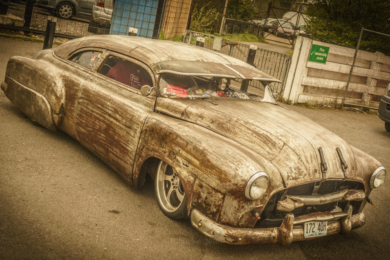 Rat rod at the Ace Cafe London