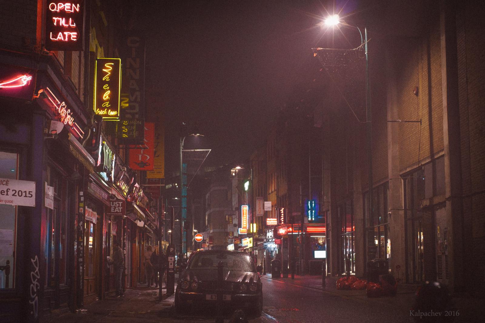 Brick lane by night