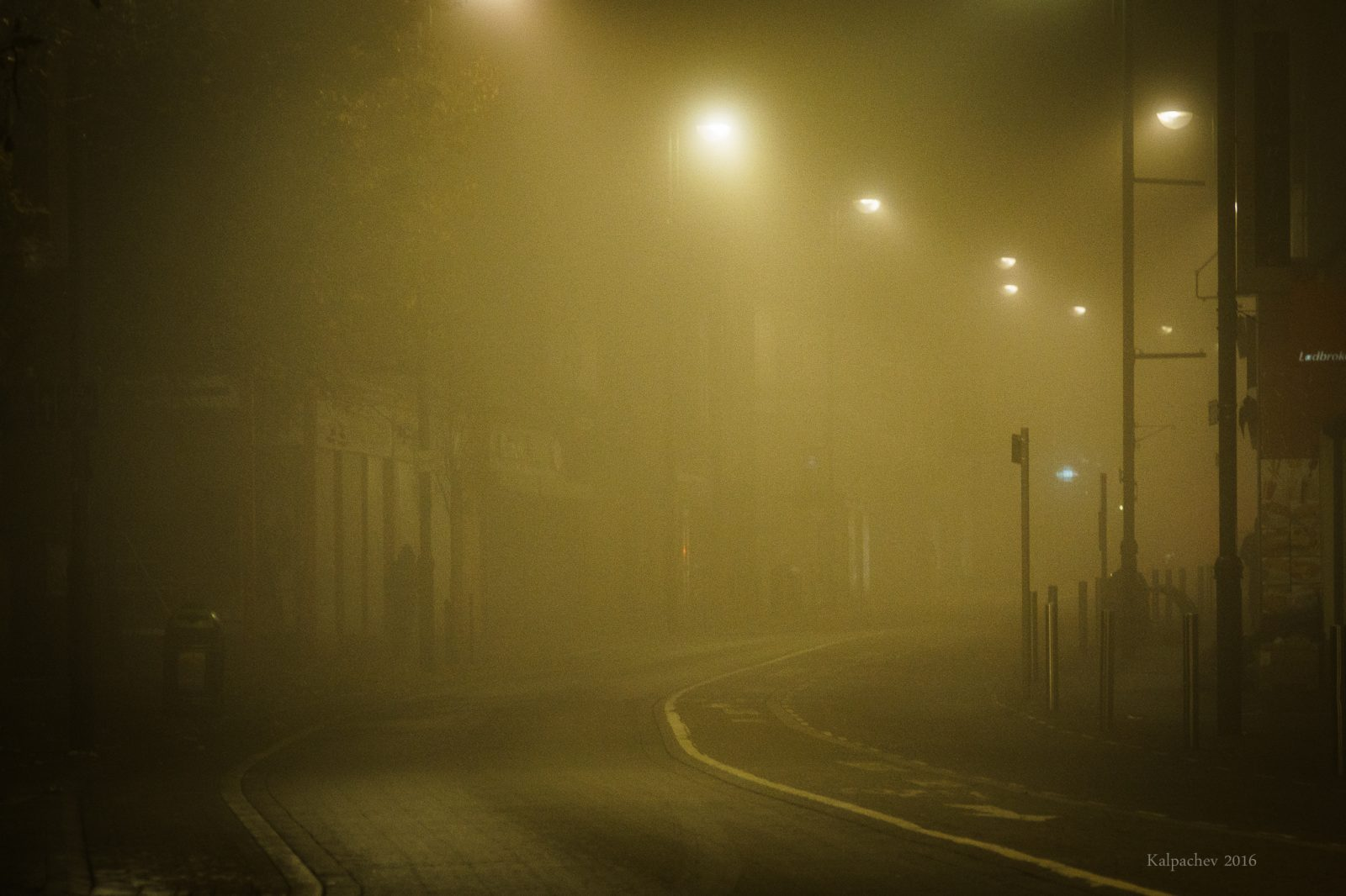 Lost in the fog in East London