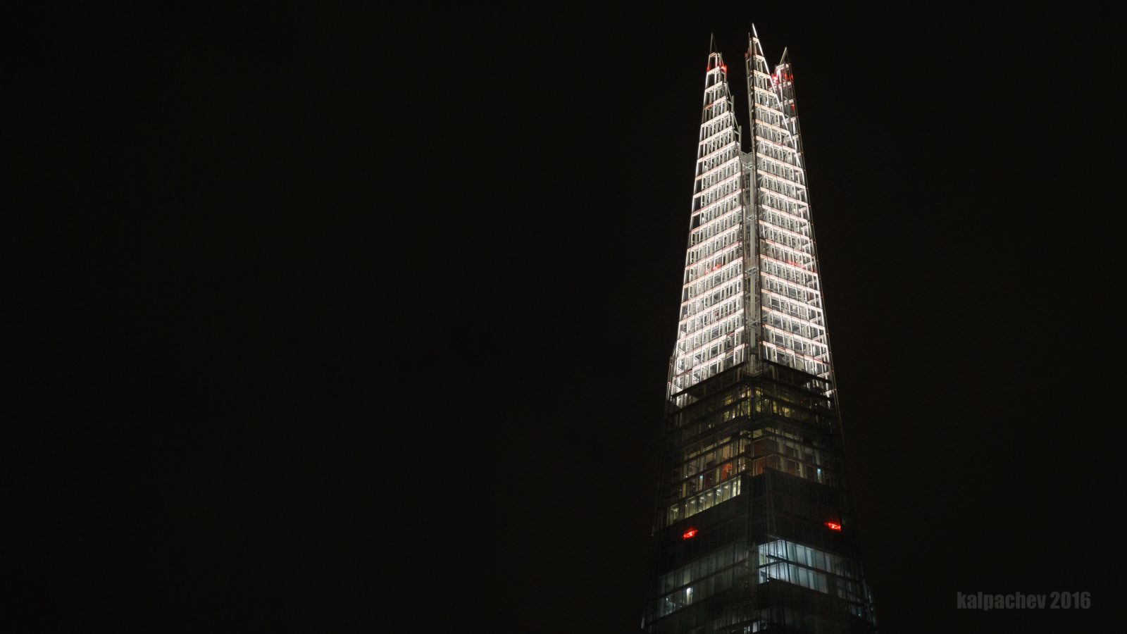 The Shard at midnight