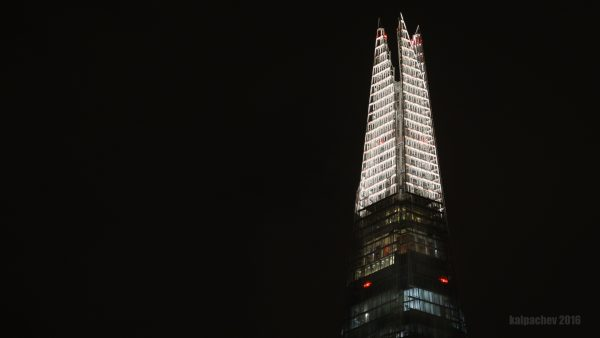 The Shard at midnight #theshard