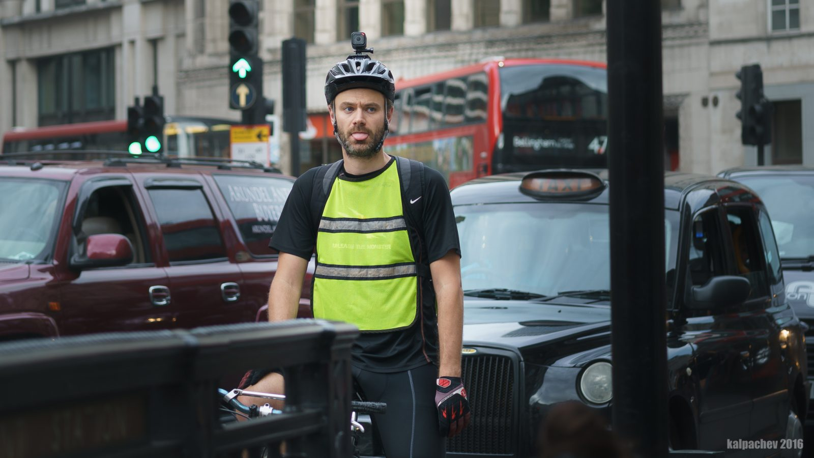 Cyclist at central London 12 Sep 2016