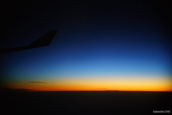 The beautiful sunset over Persian gulf