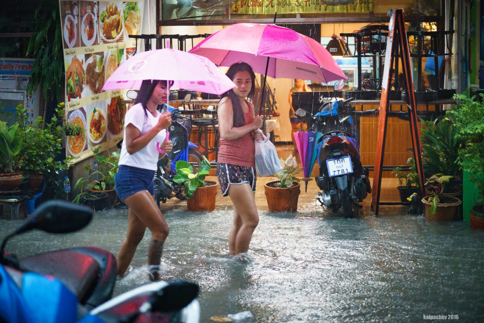 Flood in Pattaya 26 Oct 2016
