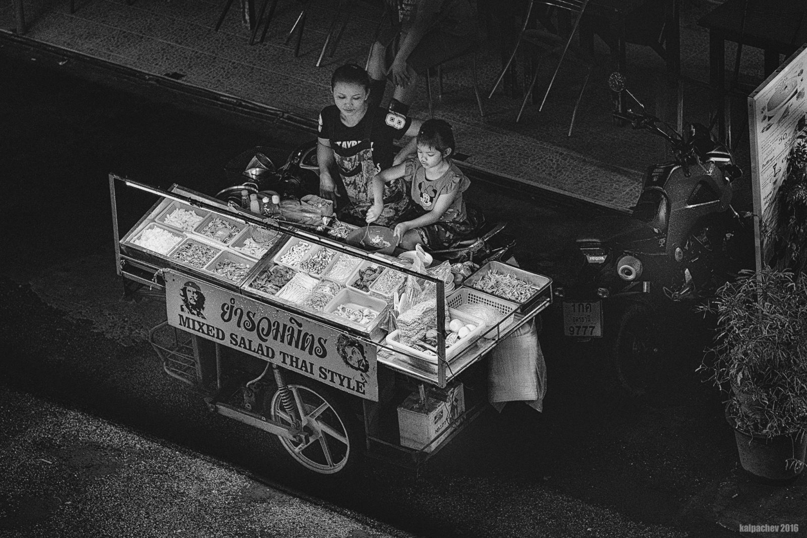Late night, street food Thailand