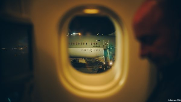 Dreamliner A7-BCS at Heathrow