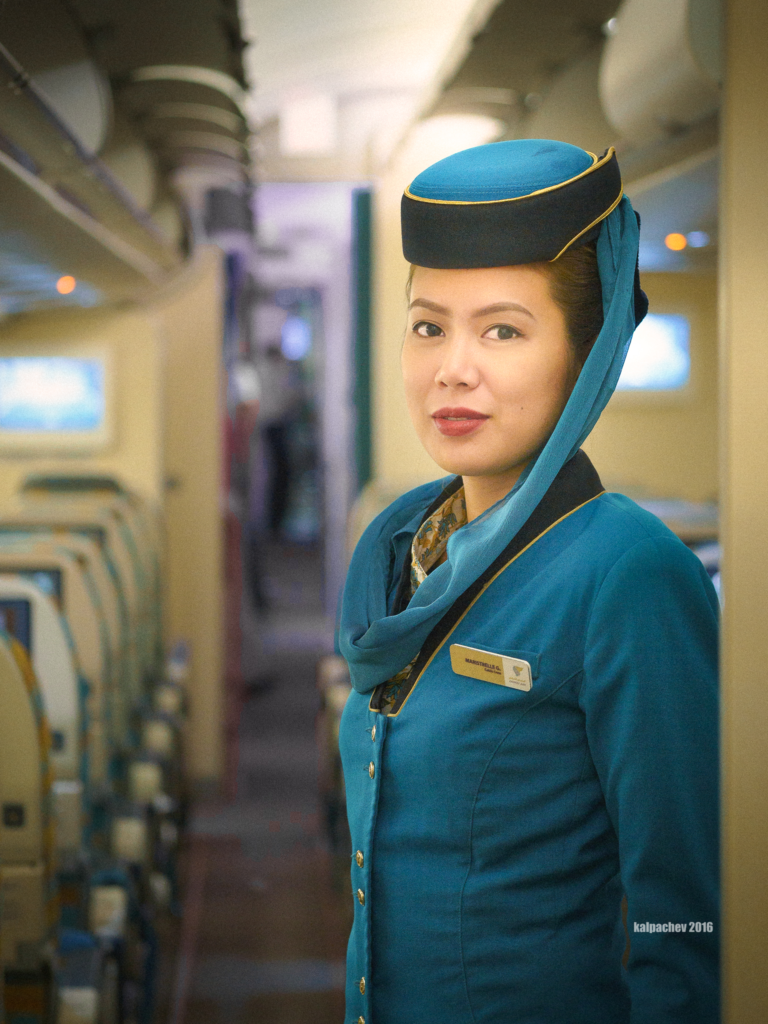 The beautiful flight crew of Oman Air #omanair