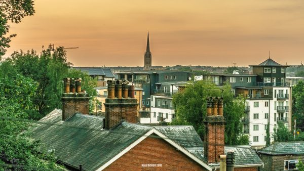 – Sunset in Norwich –