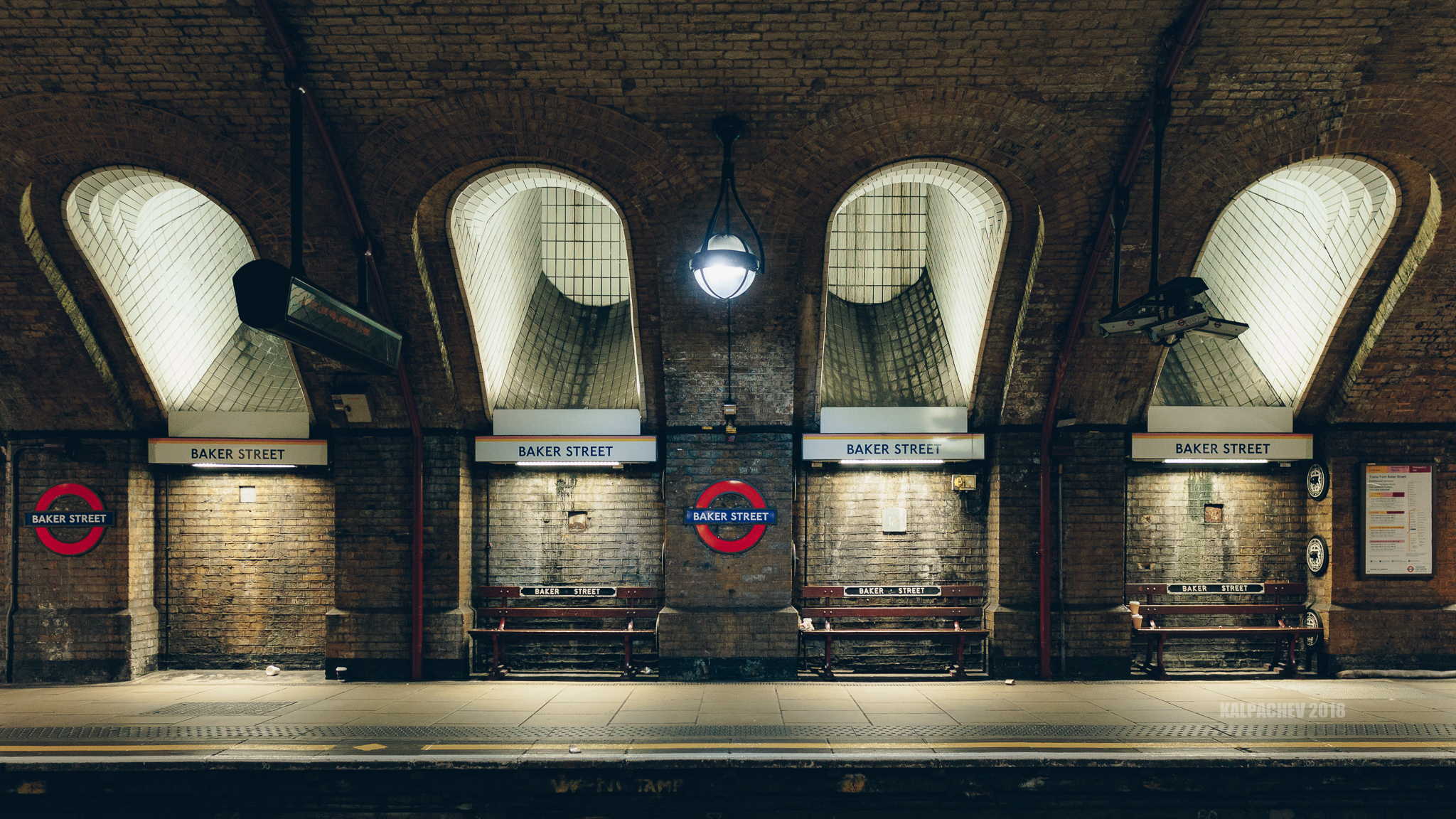 Baker Street station with Sigma 16mm F/1.4