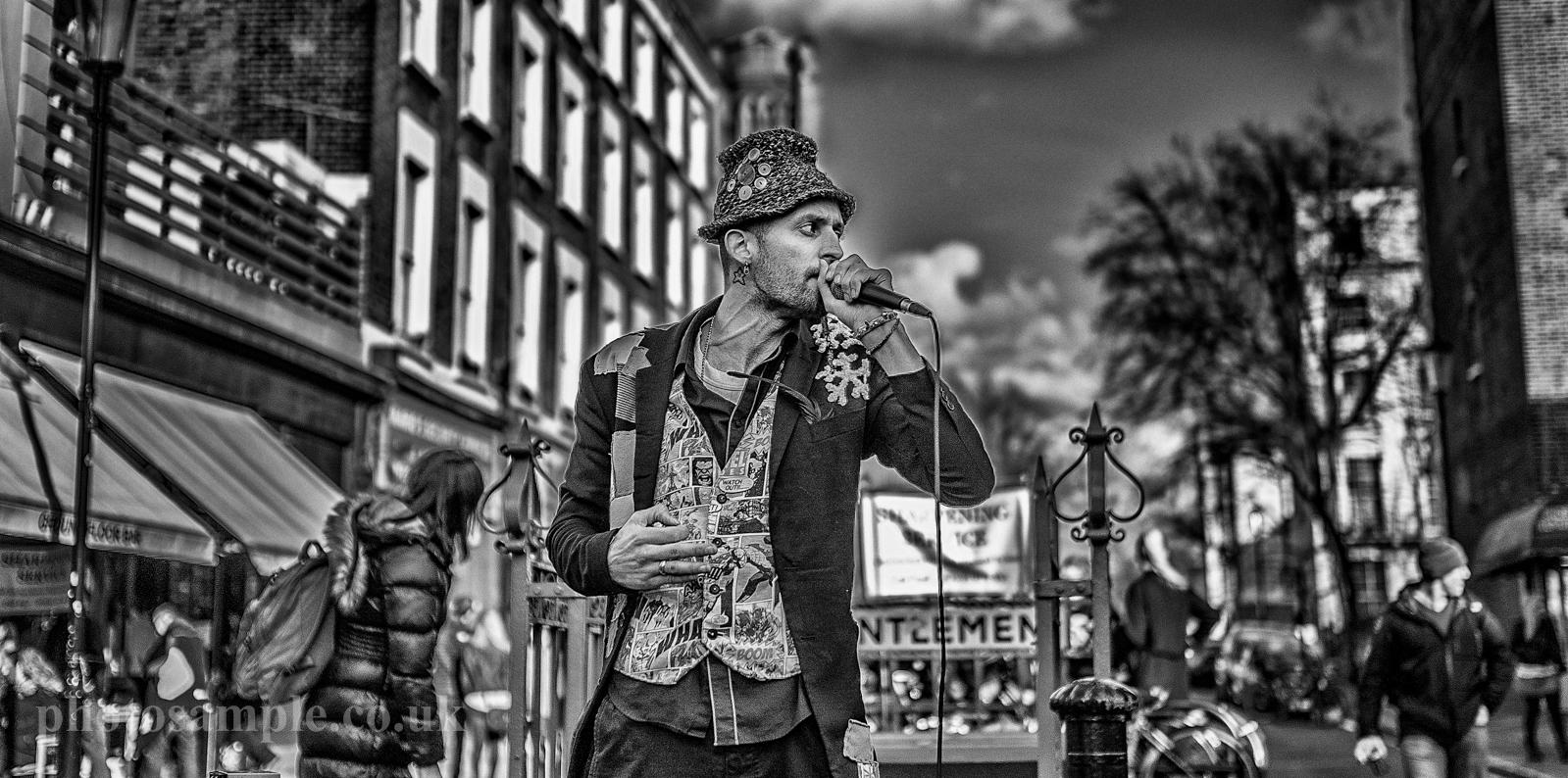 Treva 'Noisy Parrot' at Portobello Market, London, UK, 22.02.2014