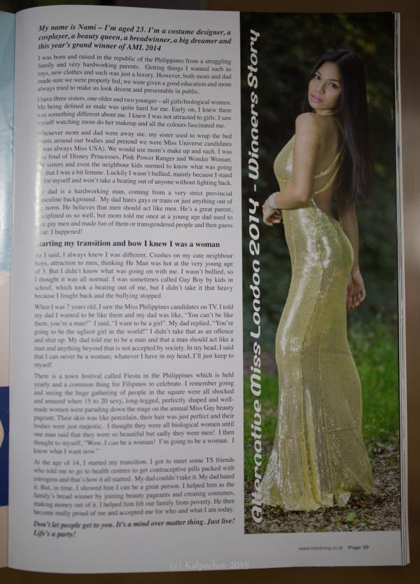 Published in Transliving magazine