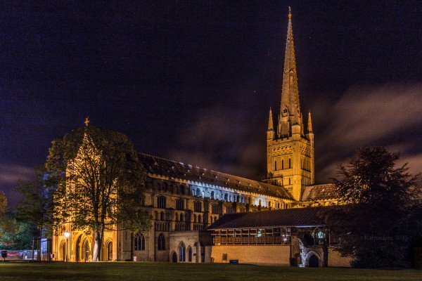 Norwich Cathedral at night. May 2015