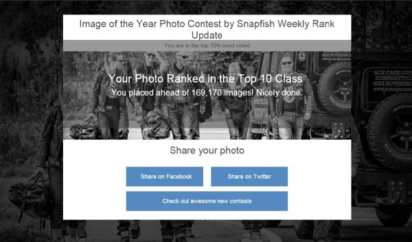 My photo in top 10% on Viewbug photo of the year
