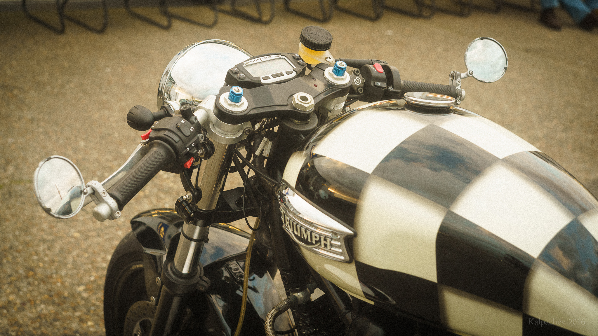 Triumph at the Ace Cafe London