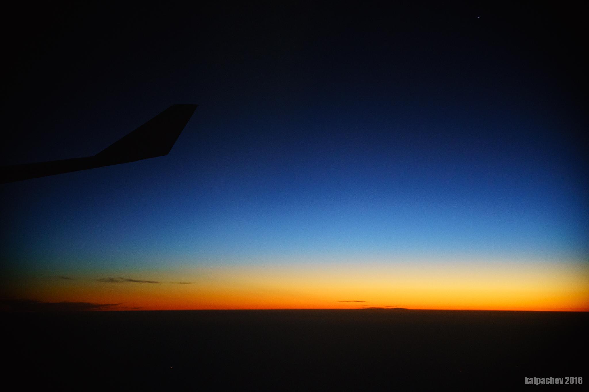 The beautiful sunset over Persian gulf
