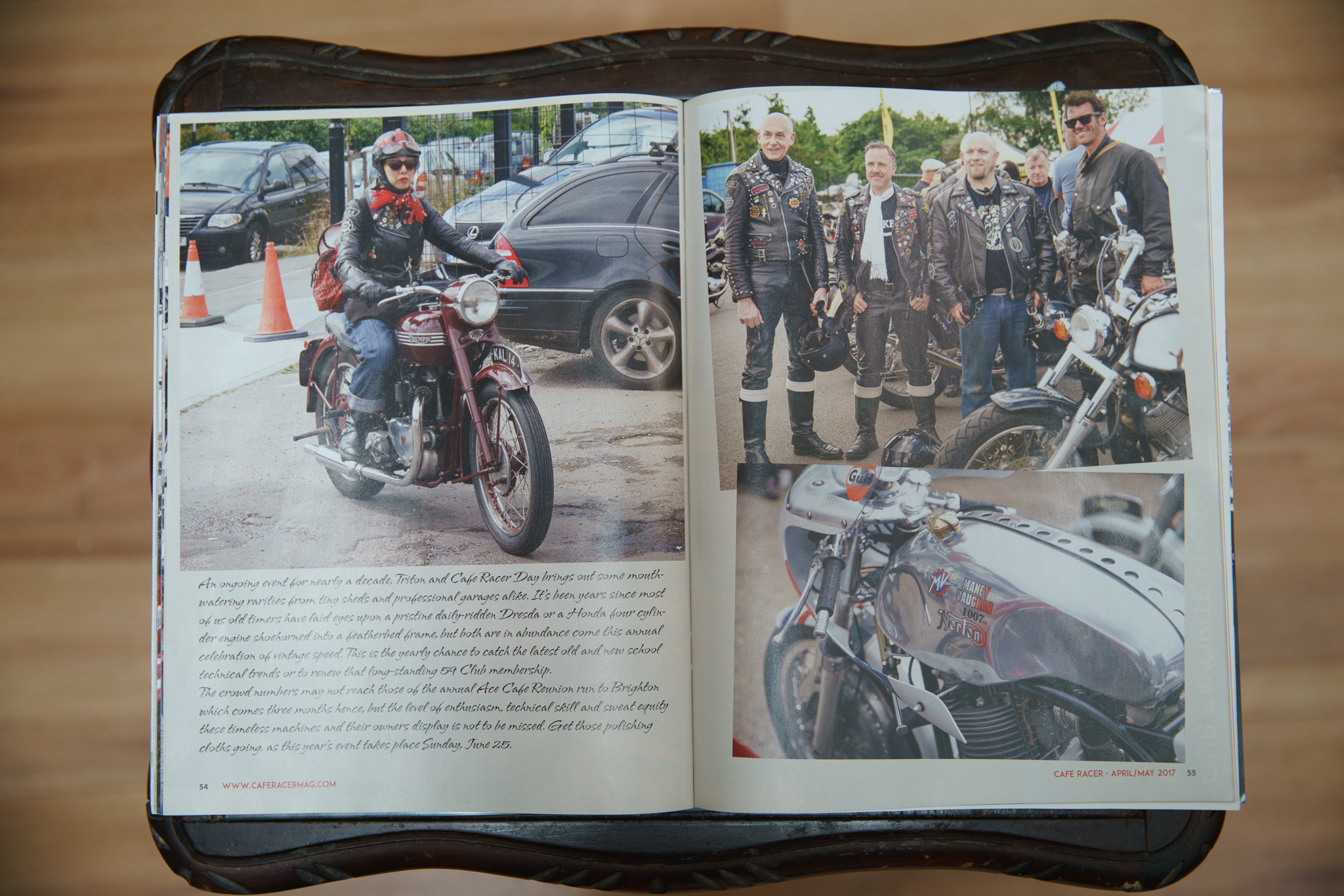 My photos published in Cafe Racer Magazine USA