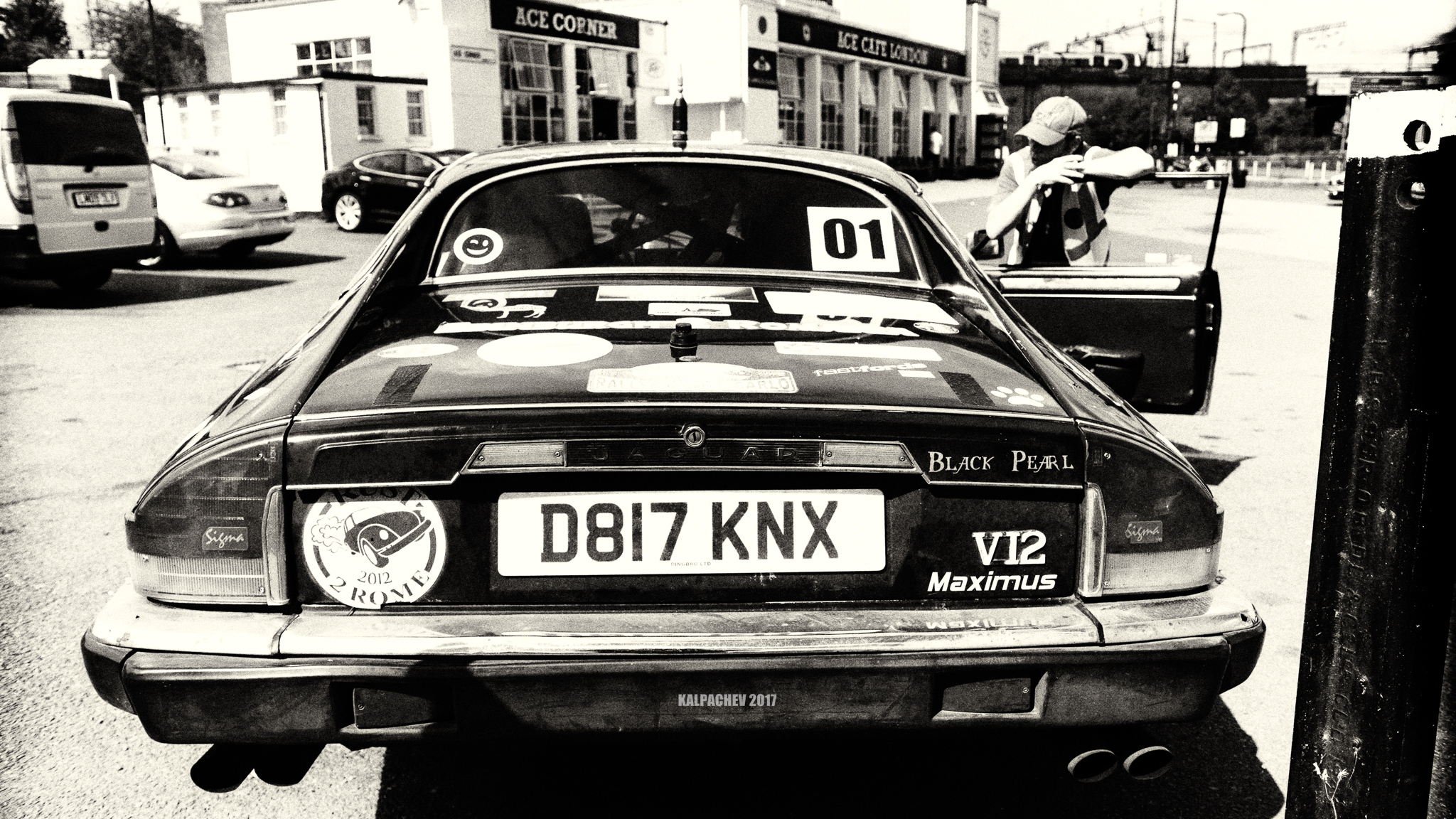 V12 Black pearl at the Ace Cafe London