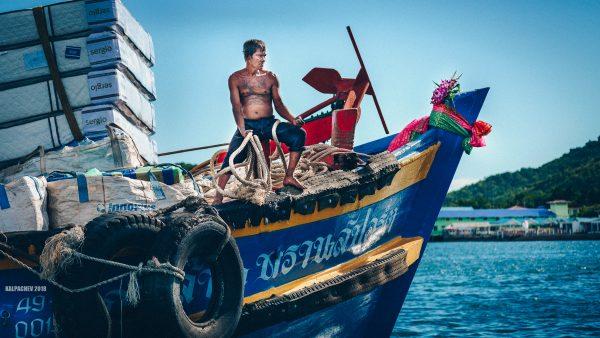 cargo boat arriving at Naban port
