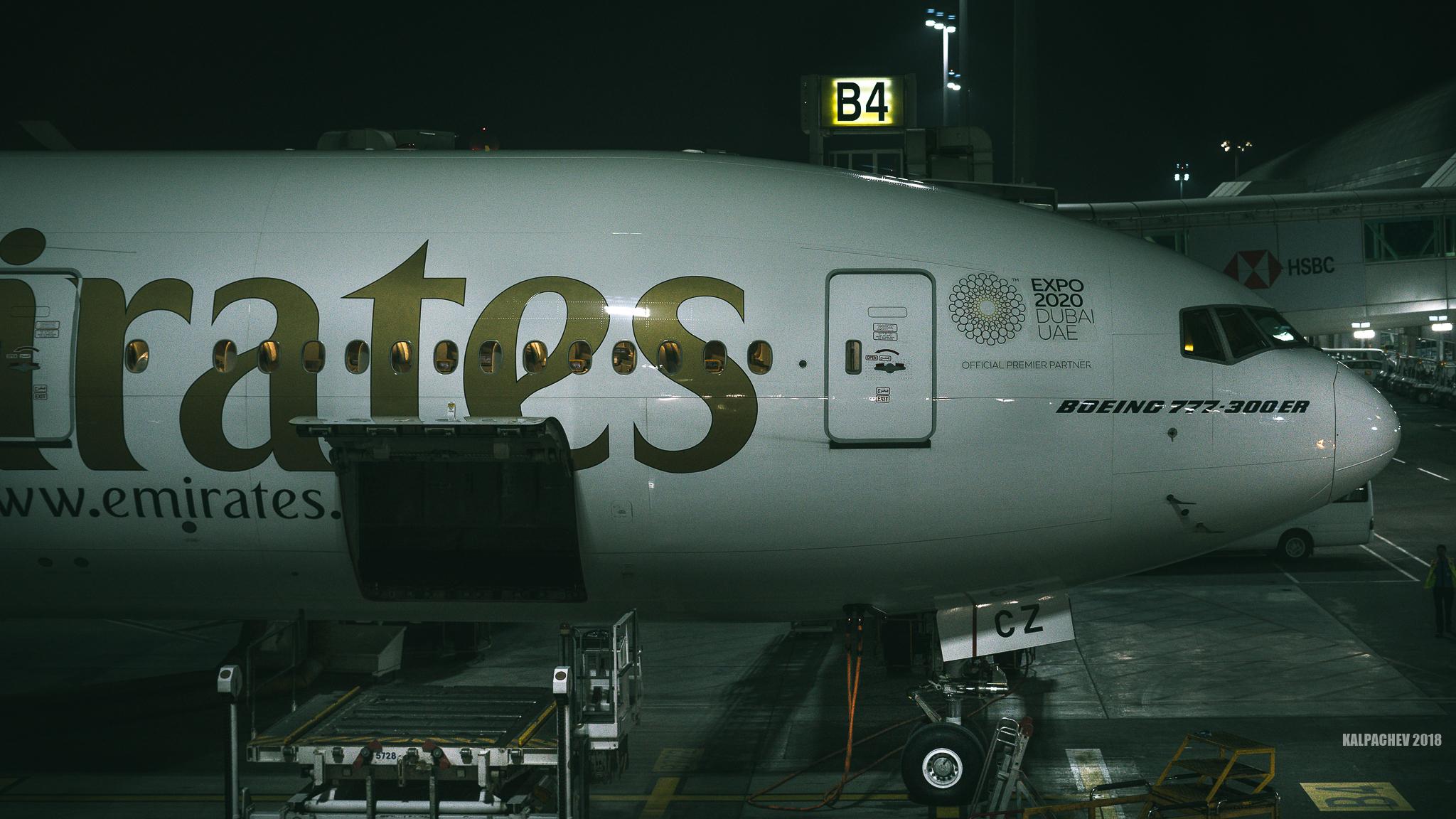 Boeing 777 at Dubai airport