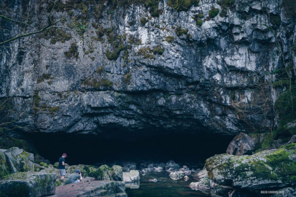 Porth Yr Ogof cave in South Wales